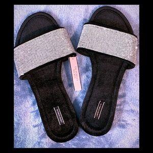Black Rhinestone VS slippers